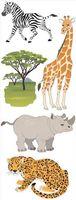 """Стикеры для скрапбукинга """"Джоли. Животные сафари"""" (арт. EKS-SPJJ205)"""