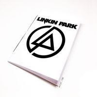 "Блокнот белый ""Linkin Park"" А5 (070)"