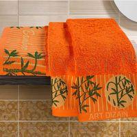 Полотенце махровое (2 шт.; оранжевое)