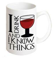 """Кружка """"Я пью вино и все знаю"""""""