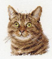 """Вышивка крестом """"Европейский кот"""" (110х120 мм)"""