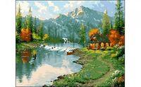 """Картина по номерам """"Горы и озеро"""" (400x500 мм)"""