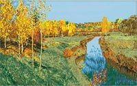 """Канва с нанесенным рисунком """"Осень"""""""