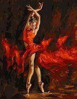 "Картина по номерам ""Огненный танец"" (400х500 мм)"