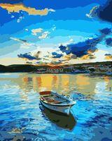 """Картина по номерам """"Закат на озере"""" (400х500 мм)"""