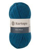 "Пряжа ""KARTOPU. Elite Wool №K1467"" (100 г; 220 м; петроль)"