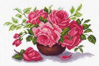 "Канва с нанесенным рисунком ""Букет роз"" (арт. 1408)"