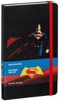 """Записная книжка Молескин """"Batman v Superman. Superman"""" в линейку (большая; твердая черная обложка)"""
