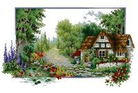 """Алмазная вышивка-мозаика """"Домик в лесу"""" (650х400 мм; арт. 7713087)"""