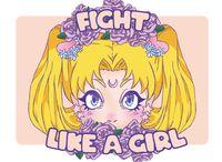 "Открытка ""Fight like a girl"""