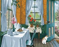 "Картина по номерам ""Завтрак на веранде"" (400х500 мм)"