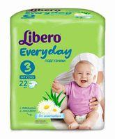 """Подгузники для детей """"Libero Every day Midi 3"""" (4-9 кг; 22 шт)"""