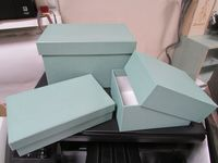 "Подарочная коробка ""Кубышка"" (13х13х21 см, бирюза)"