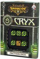 """Набор кубиков """"Warmachine Cryx Faction"""" (6 шт.; черно-зеленый)"""