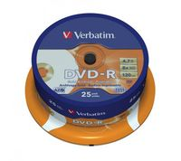 Диск DVD-R 4.7Gb 8x Verbatim Archival Grade Printable CakeBox 25