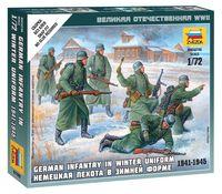 """Набор миниатюр """"Немецкая пехота в зимней форме 1941-1945 гг."""" (масштаб: 1/72)"""