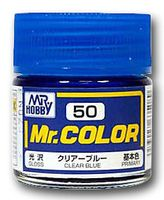 Краска Mr. Color (clear blue, C50)