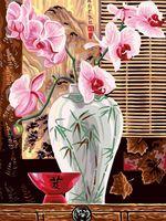 "Картина по номерам ""Розовые орхидеи"" (300х400 мм)"