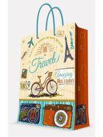 """Пакет бумажный подарочный """"Travel"""" (17,8х22,9х9,8 см; арт. 44187)"""