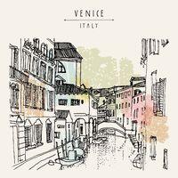 """Репродукция на холсте """"Венеция. Италия"""""""