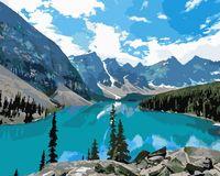 """Картина по номерам """"Горное озеро"""" (400x500 мм)"""