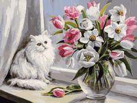 """Картина по номерам """"Весна на окошке"""" (300х400 мм)"""