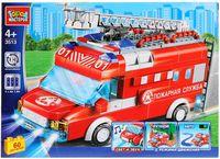 """Конструктор """"Пожарная машина"""" (60 деталей; со световыми и звуковыми эффектами)"""