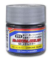 Краска Mr. Metal (chrome silver, MC211)