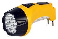 Аккумуляторный светодиодный фонарь 7+8 LED с прямой зарядкой Smartbuy (желтый)