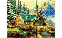 "Картина по номерам ""Усадьба в горах"""