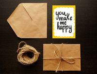 "Открытка ""You make me happy"" (art. 108)"