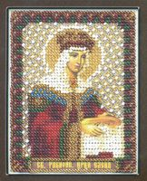 """Вышивка бисером """"Икона святой равноапостольной царицы Елены"""" (85х105 мм)"""