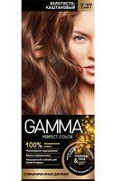 """Крем-краска для волос """"Gamma perfect color"""" (тон: 7.37, золотисто-каштановый)"""