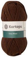 "Пряжа ""KARTOPU. Cozy Wool №K890"" (100 г; 110 м; теплый шоколад)"