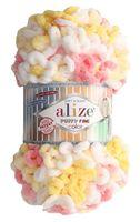 """Пряжа """"ALIZE. Puffy Fine Color №5942"""" (100 г; 14,5 м; секционный)"""