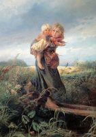 """Пазл """"Дети, бегущие от грозы"""" (60 элементов)"""