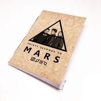 """Блокнот крафт """"30 seconds to Mars"""" А7 (арт. 144)"""