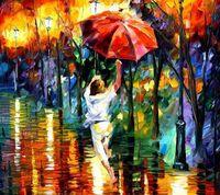 """Картина по номерам """"Бегущий под дождем"""" (400х500 мм)"""