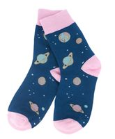 """Носки женские хлопковые """"Kawaii Cosmic"""" (синие)"""