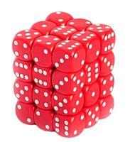 """Набор кубиков D6 """"Опак"""" (12 мм; 12 шт.; красно-белый)"""