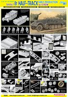 Полугусеничный тягач Sd.Kfz.7 8t Half Track Early Production (масштаб: 1/35)