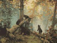 "Картина по номерам ""Утро в сосновом лесу"" (400x500 мм)"