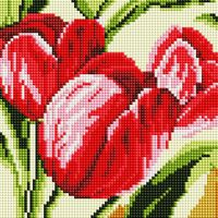 """Алмазная вышивка-мозаика """"Тюльпаны"""" (200х200 мм)"""