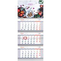 """Календарь настенный квартальный на 2020 год """"Breakfast"""" (29,5х70 см)"""