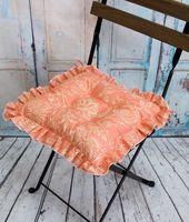 "Подушка на стул ""Ажур"" (35х35 см; оранжевая)"