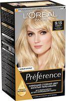 """Краска для волос """"Preference"""" (тон: 9.13, Байкал очень светло-русый бежевый)"""