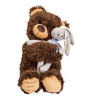 """Мягкая игрушка """"Медвежонок Чиба с зайцем"""" (27 см)"""