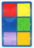 "Рамка-вкладыш ""Собери квадрат"" (6 фигур; уровень 2)"