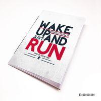 """Блокнот белый """"Wake up and run"""" А7 (арт. 394)"""