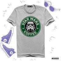 """Футболка серая унисекс """"Звездные войны. Кофе"""" (XL; арт. 005)"""
